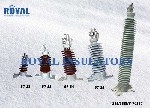 Horizontal Mounting porcelain line post insulators