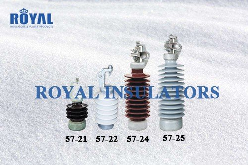 Horizontal porcelain line post insulators