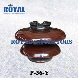 PORCELAIN PIN INSULATORS 36KV BS STANDARD P-36-Y