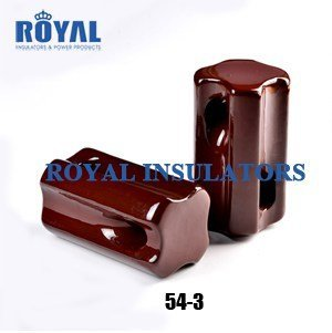 Porcelain strain stay insulators 54-3